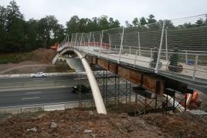 Almost complete bridge over I-40.